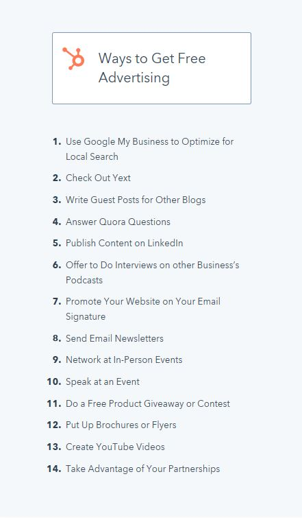 Free Advertising Tools for Small Businesses -- From Hubspot